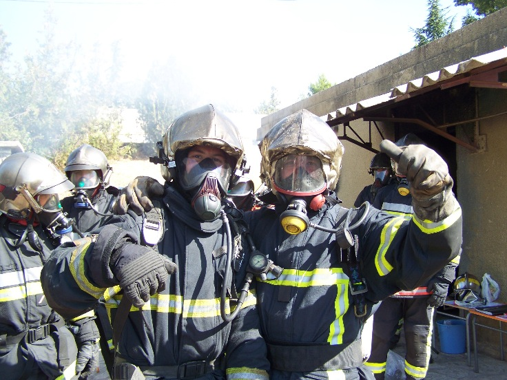 Cours formateurs flashover - Draguignan (Canjuers-France) 2009